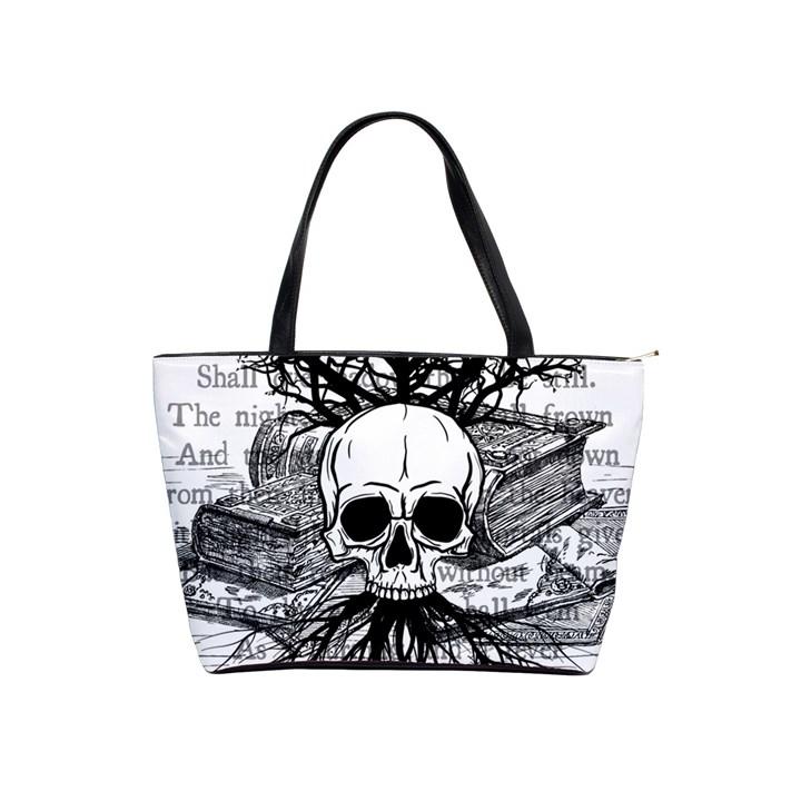 Skull & Books Shoulder Handbags