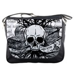 Skull & Books Messenger Bags