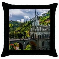 Las Lajas Sanctuary 1 Throw Pillow Cases (black) by trendistuff