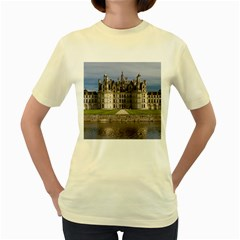 Chambord Castle Women s Yellow T Shirt by trendistuff
