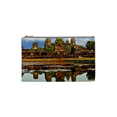 Angkor Wat Cosmetic Bag (small)  by trendistuff