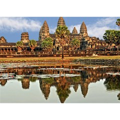 Angkor Wat Birthday Cake 3d Greeting Card (7x5)