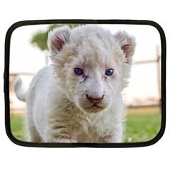 WHITE LION CUB Netbook Case (Large) by trendistuff