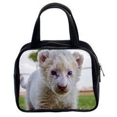 White Lion Cub Classic Handbags (2 Sides) by trendistuff