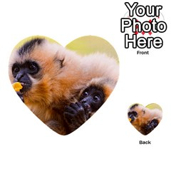 Two Monkeys Multi Purpose Cards (heart)  by trendistuff