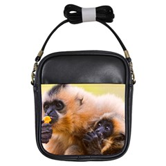 Two Monkeys Girls Sling Bags by trendistuff