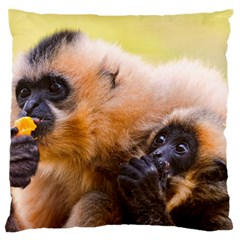 Two Monkeys Standard Flano Cushion Cases (two Sides)  by trendistuff