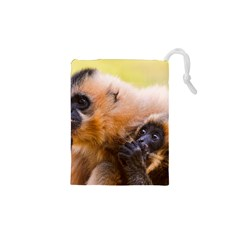 Two Monkeys Drawstring Pouches (xs)  by trendistuff