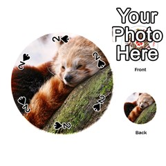 Red Panda Playing Cards 54 (round)  by trendistuff