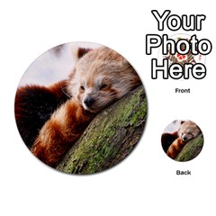 Red Panda Multi Purpose Cards (round)