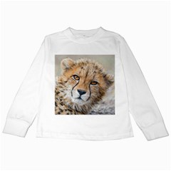 Leopard Laying Down Kids Long Sleeve T Shirts by trendistuff