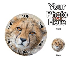 Leopard Laying Down Playing Cards 54 (round)