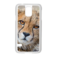 LEOPARD LAYING DOWN Samsung Galaxy S5 Case (White) by trendistuff
