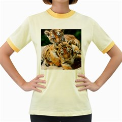 BABY TIGERS Women s Fitted Ringer T-Shirts by trendistuff