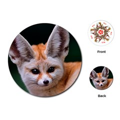 Baby Fox Playing Cards (round)