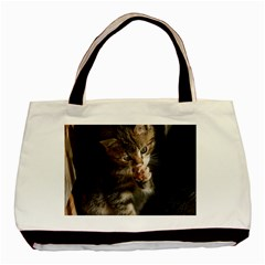 Talk To The Paw Basic Tote Bag  by trendistuff