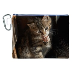 TALK TO THE PAW Canvas Cosmetic Bag (XXL)  by trendistuff