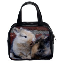 Small Baby Rabbits Classic Handbags (2 Sides) by trendistuff