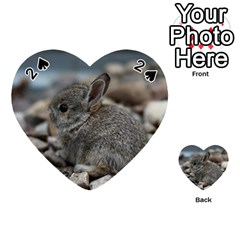 Small Baby Bunny Playing Cards 54 (heart)