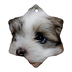Sad Puppy Ornament (snowflake)  by trendistuff
