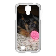Puppy With A Chew Toy Samsung Galaxy S4 I9500/ I9505 Case (white) by trendistuff
