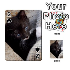 Pretty Blue Eyed Kitty Playing Cards 54 Designs