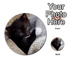 Pretty Blue Eyed Kitty Multi Purpose Cards (round)