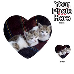 Kitty Twins Multi Purpose Cards (heart)  by trendistuff