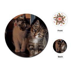 Cute Kitties Playing Cards (round)