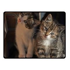 Cute Kitties Double Sided Fleece Blanket (small)  by trendistuff