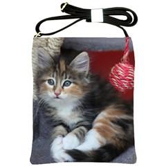Comfy Kitty Shoulder Sling Bags by trendistuff