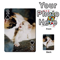 Calico Cat And White Kitty Playing Cards 54 Designs  by trendistuff