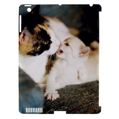 Calico Cat And White Kitty Apple Ipad 3/4 Hardshell Case (compatible With Smart Cover) by trendistuff