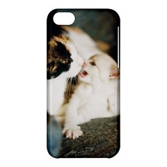Calico Cat And White Kitty Apple Iphone 5c Hardshell Case by trendistuff