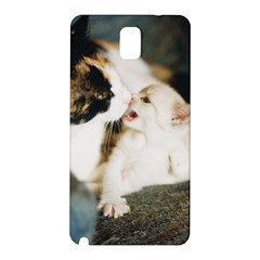 Calico Cat And White Kitty Samsung Galaxy Note 3 N9005 Hardshell Back Case