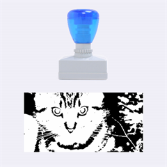 Blue Eyed Kitty Rubber Stamps (medium)  by trendistuff
