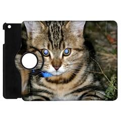 Blue Eyed Kitty Apple Ipad Mini Flip 360 Case by trendistuff