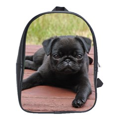 Alert Pug Puppy School Bags(large)  by trendistuff