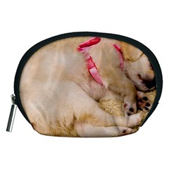 Adorable Sleeping Puppy Accessory Pouches (medium)  by trendistuff
