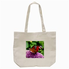 Peacock Butterfly Tote Bag (cream)  by trendistuff