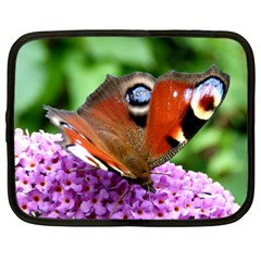 Peacock Butterfly Netbook Case (large) by trendistuff