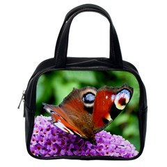 Peacock Butterfly Classic Handbags (one Side) by trendistuff