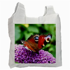 Peacock Butterfly Recycle Bag (one Side) by trendistuff