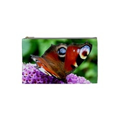 Peacock Butterfly Cosmetic Bag (small)  by trendistuff