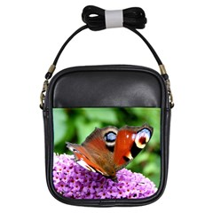 Peacock Butterfly Girls Sling Bags by trendistuff