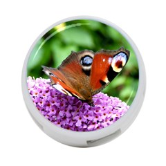 Peacock Butterfly 4 Port Usb Hub (two Sides)  by trendistuff