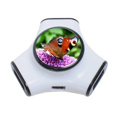 Peacock Butterfly 3 Port Usb Hub by trendistuff