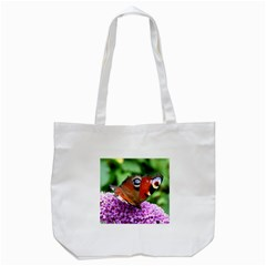Peacock Butterfly Tote Bag (white)  by trendistuff