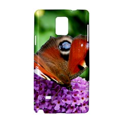 Peacock Butterfly Samsung Galaxy Note 4 Hardshell Case by trendistuff