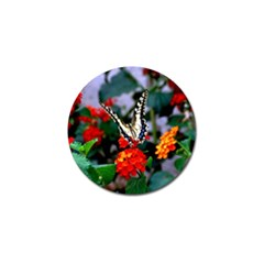 Butterfly Flowers 1 Golf Ball Marker (10 Pack) by trendistuff